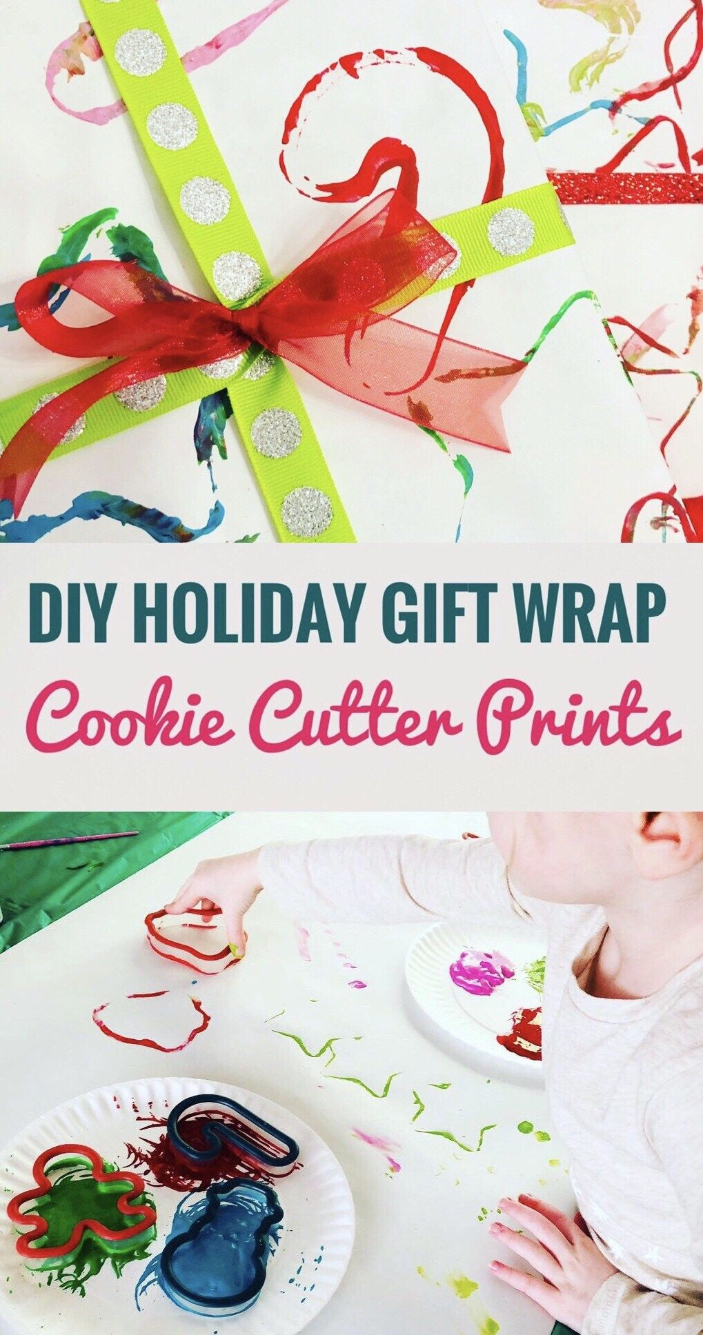 Diy Holiday Gift Wrap Cookie Cutter Prints Creative Kids