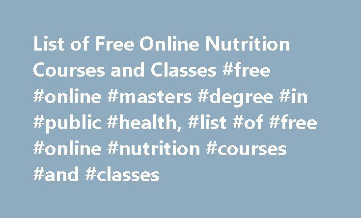 Dietitian degree