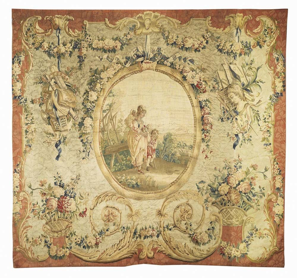 TAPISSERIE, Louis XVI, Manufacture de Beauvais, um 1770/80.