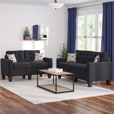 Zipcode Design Amia 2 Piece Living Room Set in 2018 Apartment