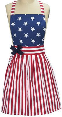 KAY DEE APRON AMERICAN FLAG STARS & STRIPES NEW FOR JULY 4TH NIP on eBay!