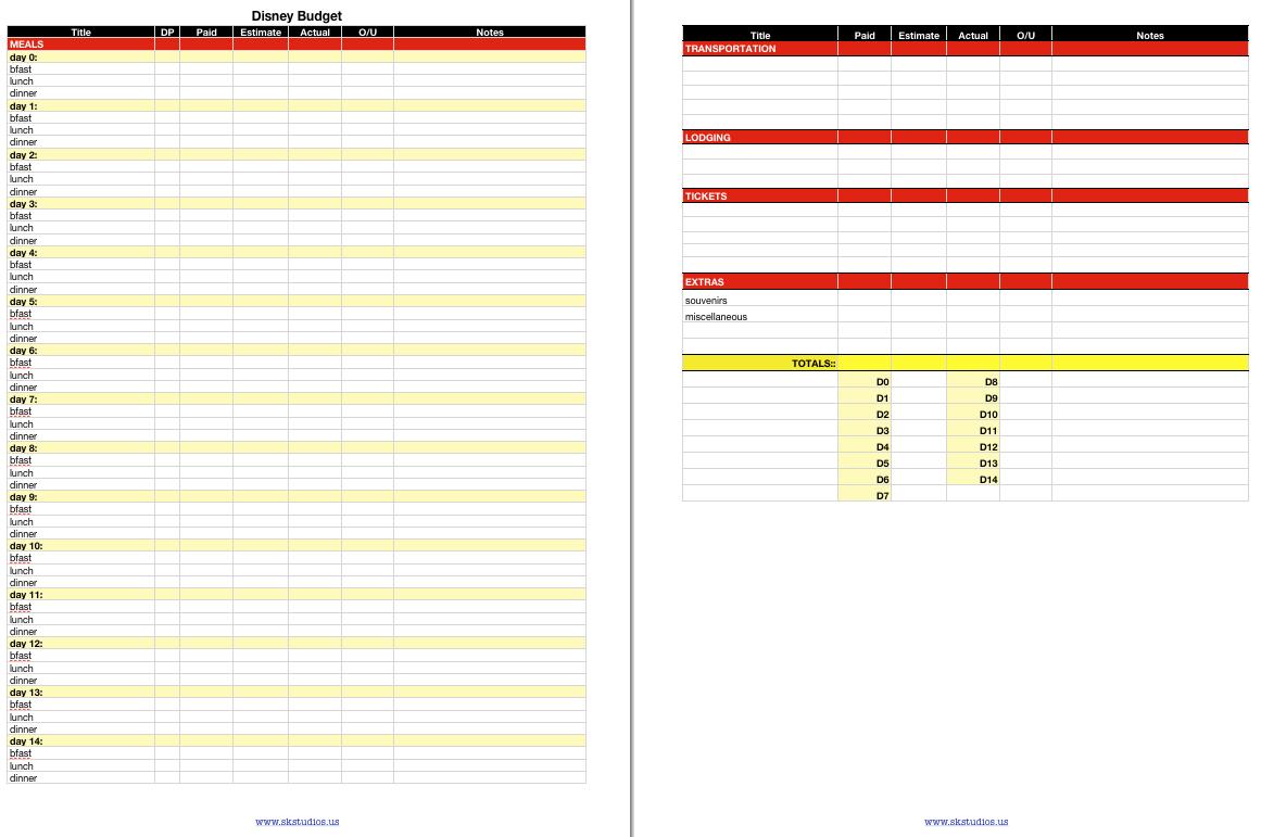 Sk Studios Homemaking 31 Days Budget Planning Worksheet