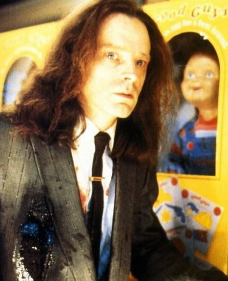 brad dourif as charles lee ray serial killer who is turned into the