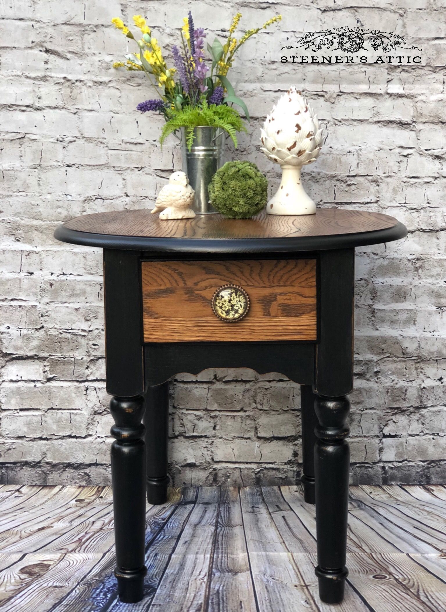 This Cute Accent Table Was Originally All Honey Oak I Decided To