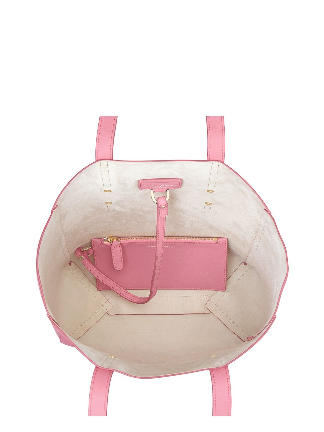 Aspinal of London Aspinal Essential Tote in Blossom Kaviar & Blush Suede Image 3