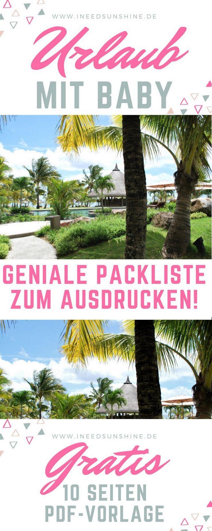 """Photo of Checkliste Urlaub mit Baby: """"PDF-Vorlage zum Ausdrucken"""""""