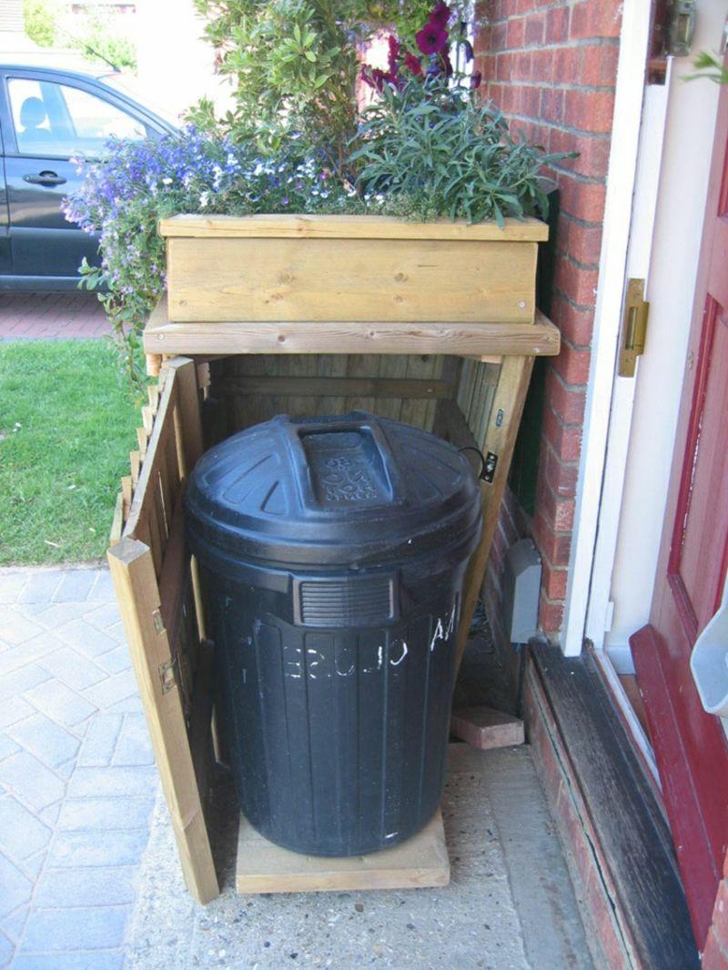 günstige ideen für den auβenbereich: mülltonnenbox selber bauen