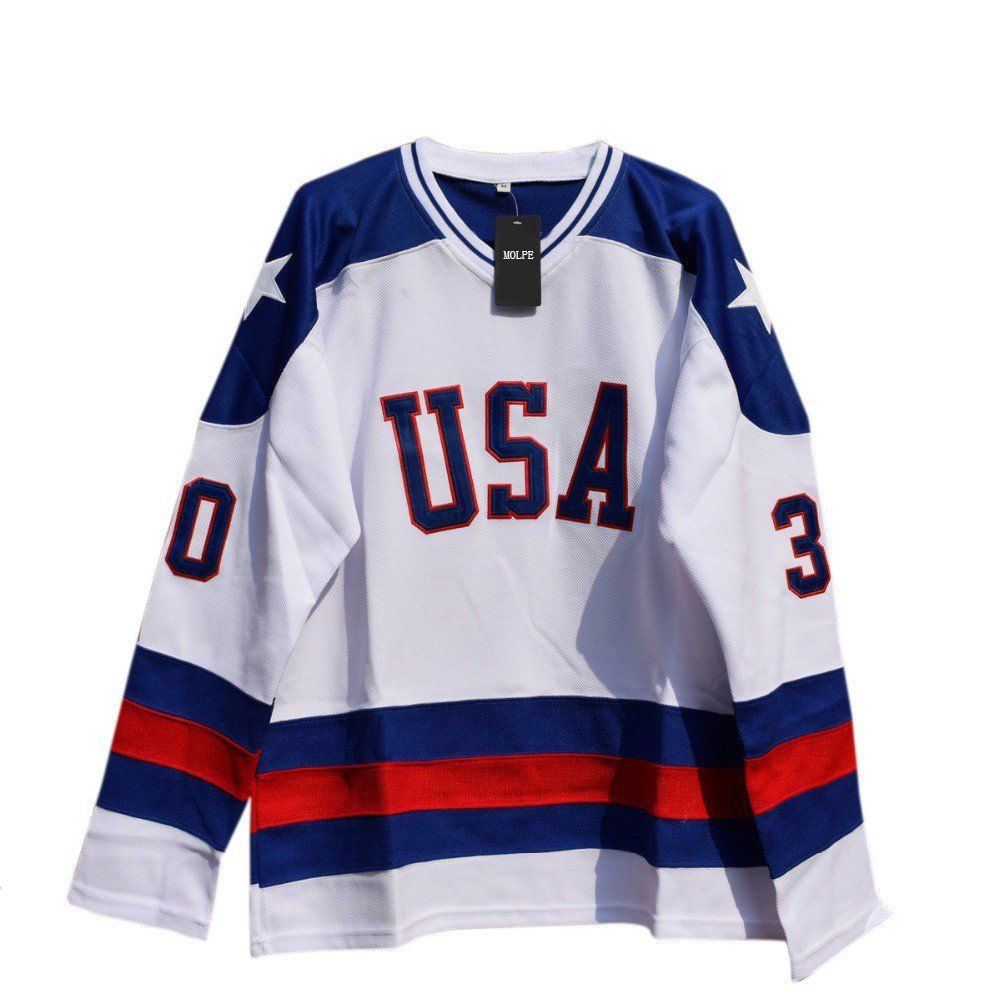 Jim Craig 30 Miracle On Ice Hockey Jersey In 2020 Jim Craig Ice Hockey Jersey Hockey