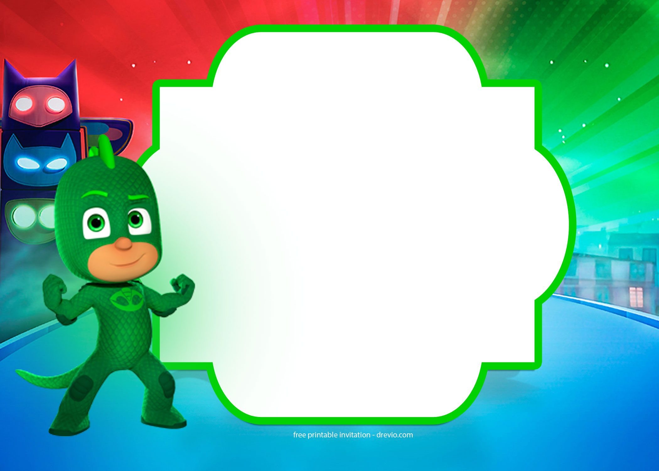 Get FREE PJ Masks Birthday Invitation Templates