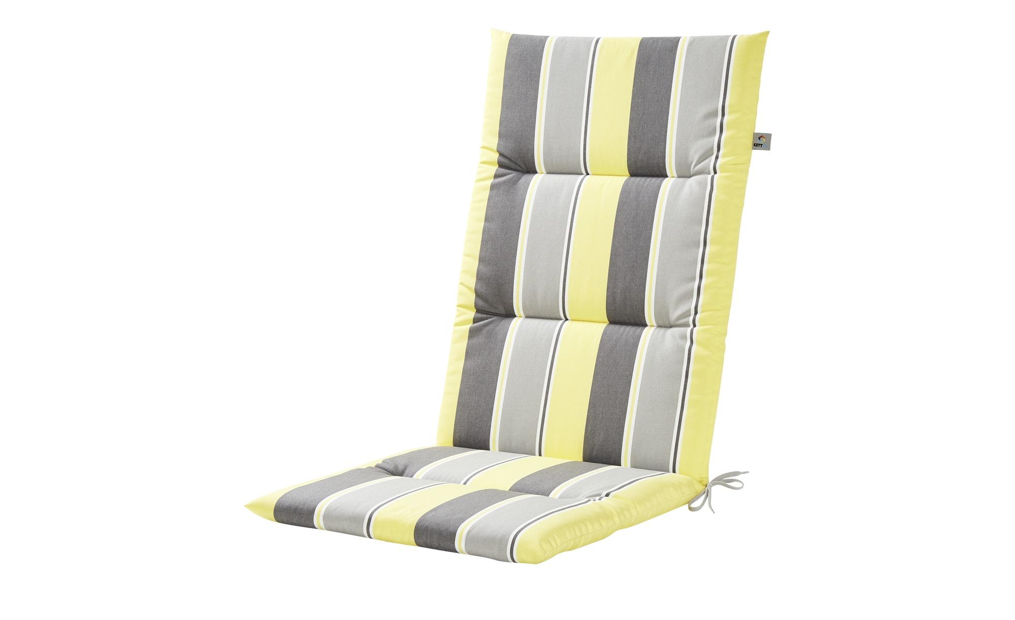 Auflage Stripes Alutex ¦ gelb ¦ Maße (cm): B: 50 H: 4 Gartenmöbel ...