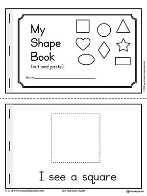 graphic relating to Printable Shape Book referred to as Simple Geometric Styles Mini E book Literacy and Math
