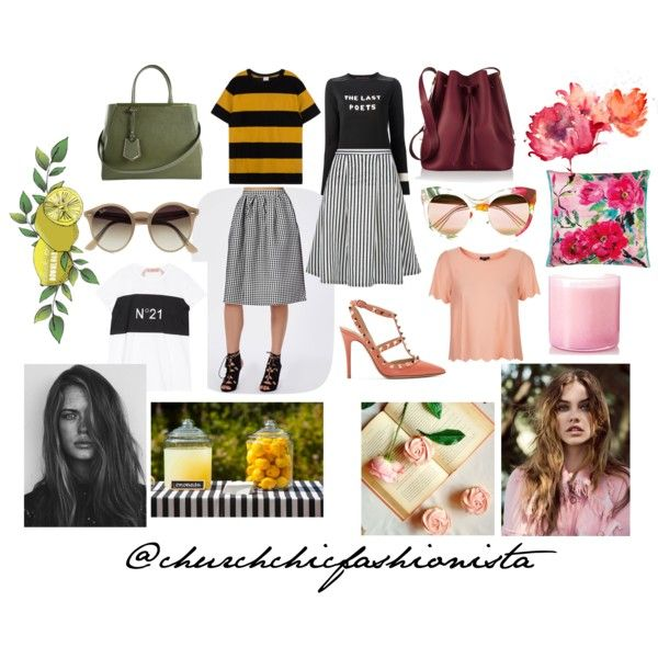 The Social by churchchicfashionista on Polyvore featuring polyvore fashion style Topshop Bella Freud Valentino Sophie Hulme Fendi Ray-Ban Gucci Designers Guild LAFCO GE love Modest