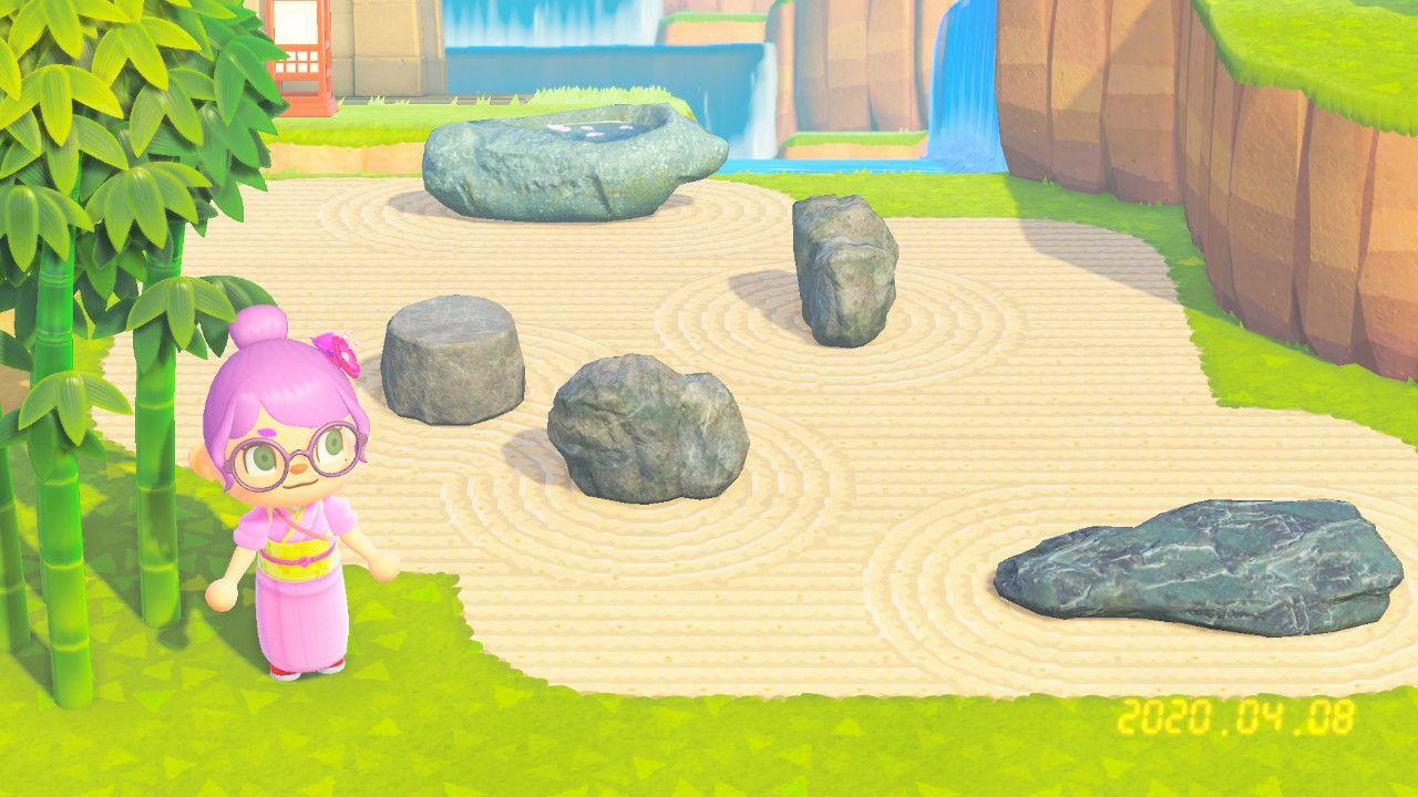 Animal Crossing New Horizons Zen Garden Pattern