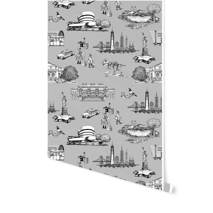 New York Toile Wallpaper Peel And Stick Wallpaper Toile Wallpaper Katie Kime Wallpaper