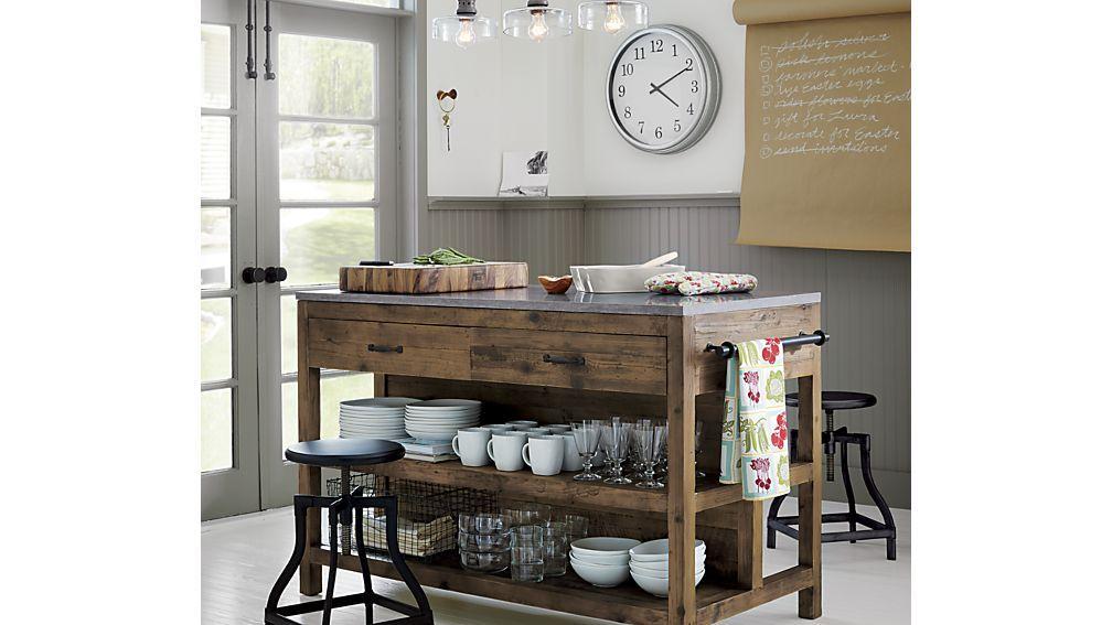 Merveilleux Turner Black Adjustable Backless Bar Stools And Linen Cushion | Crate And  Barrel · Kitchen Island ...