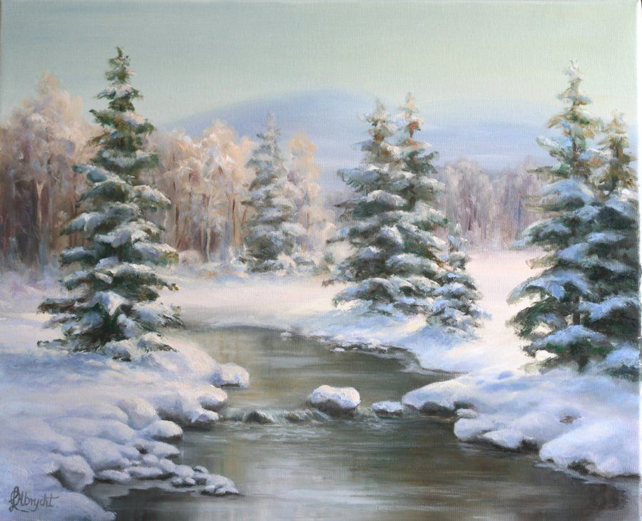 Winter In The Carpathians By Lidmar Winter Landscape Painting Winter Painting Canvas Painting Landscape
