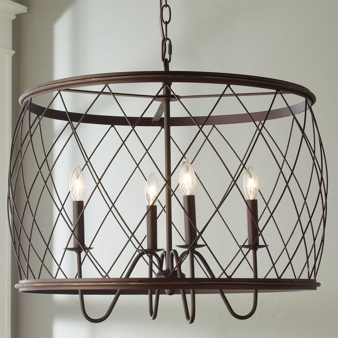 Trellis Cage Drum Chandelier Large Lighting In 2019