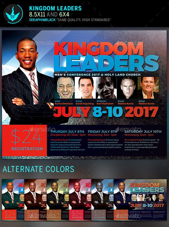 Kingdom Leaders Church Flyer Template  Flyer Template Template