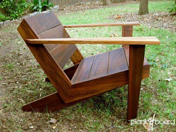 Cool modern take on the adirondack by Atlanta-based furniture maker - como hacer bancas de madera para jardin