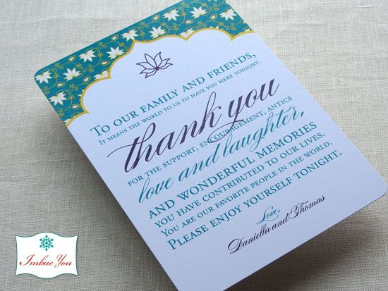 Wedding Reception Thank You Card Wording Inspiration