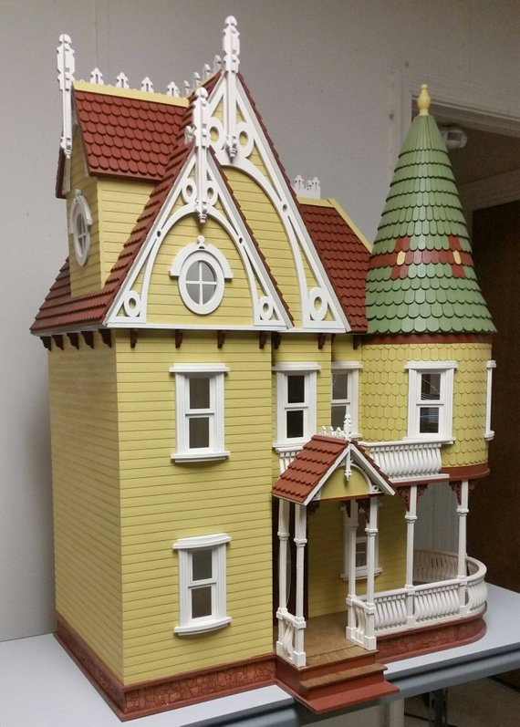 Strange 1 12 Scale Wooden Victorian Dollhouse Mansion Mirabella Download Free Architecture Designs Scobabritishbridgeorg