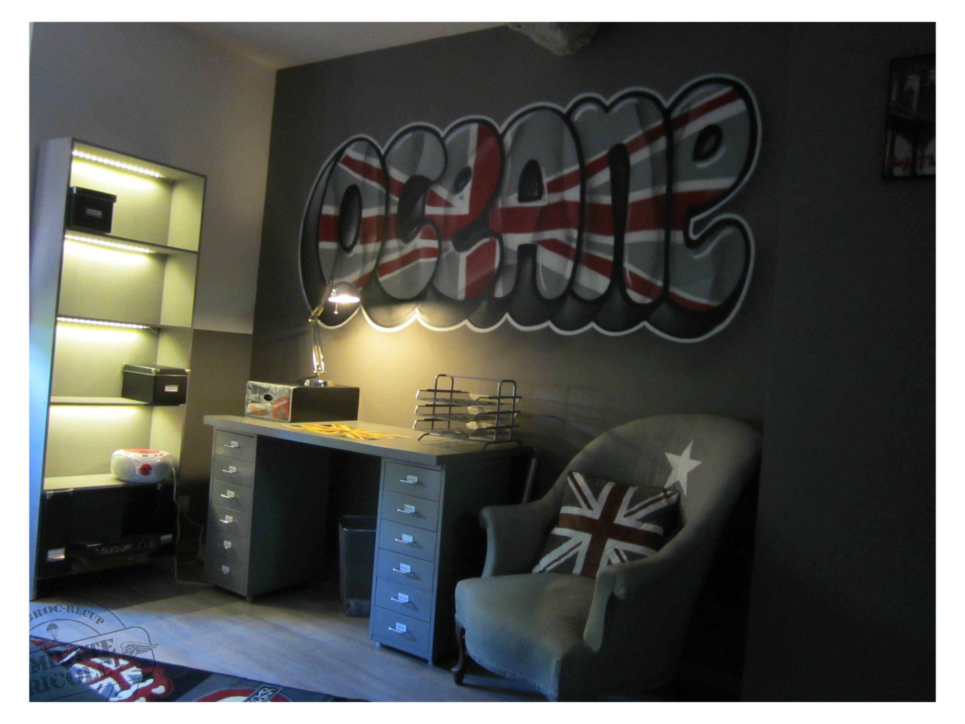 Chambre london - Idee deco chambre ado fille london ...