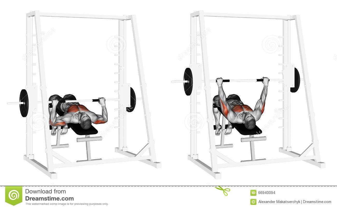Exercising Decline Smith Machine Bench Press Bench Press Smith Machine Best Chest Workout