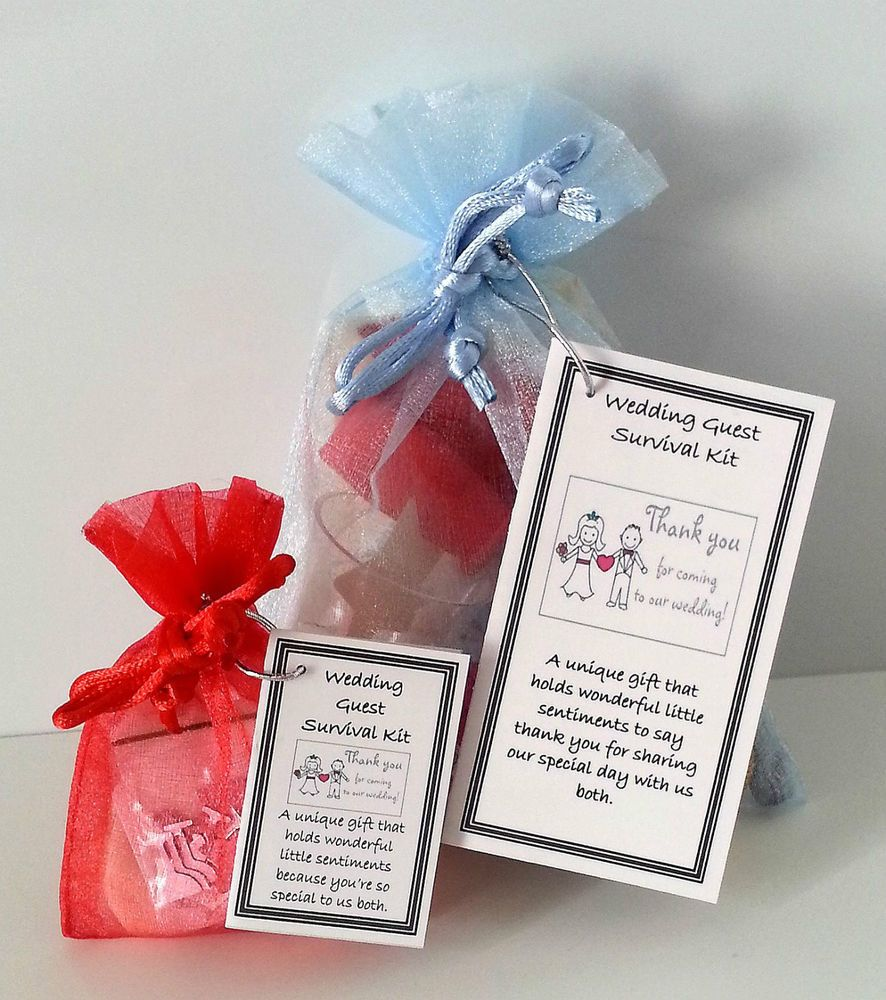 Guest Survival Kit Novelty Fun Sentimental Keepsake Wedding Gift Or Favour
