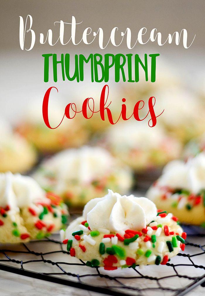 Buttercream Thumbprint Cookies