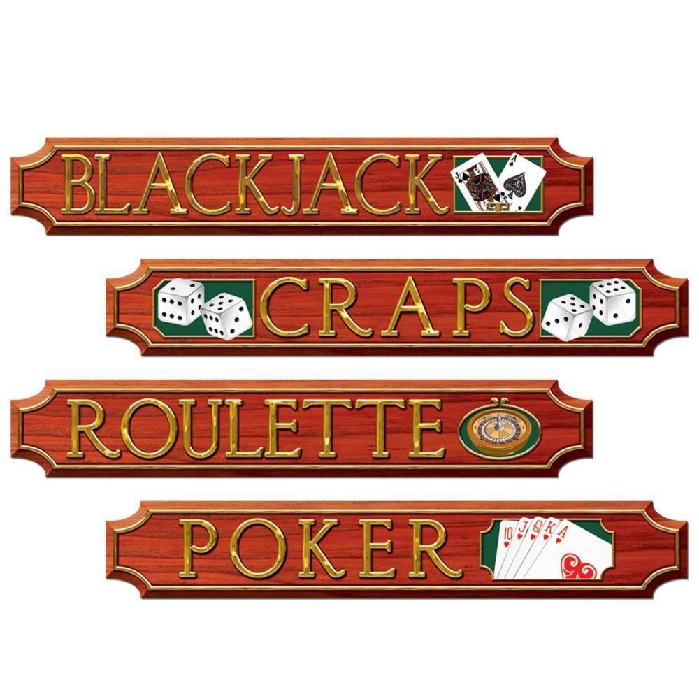 Casino Party Casino Sign Cutouts (48ct) Casino party