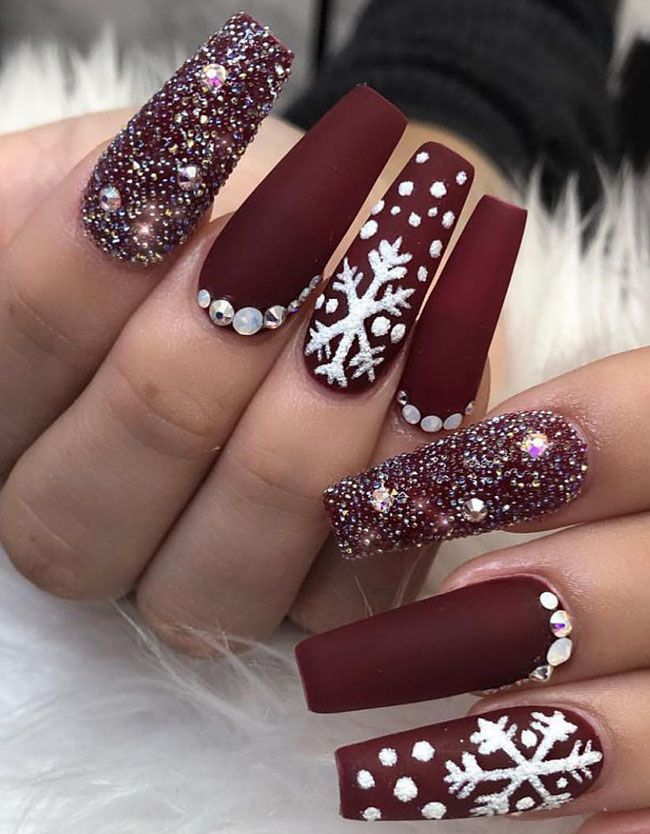 Cool Long Coffin Nail Designs Cute Christmas Nails Christmas Nails Cute Acrylic Nails