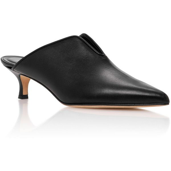 Black mules shoes, Small heel shoes