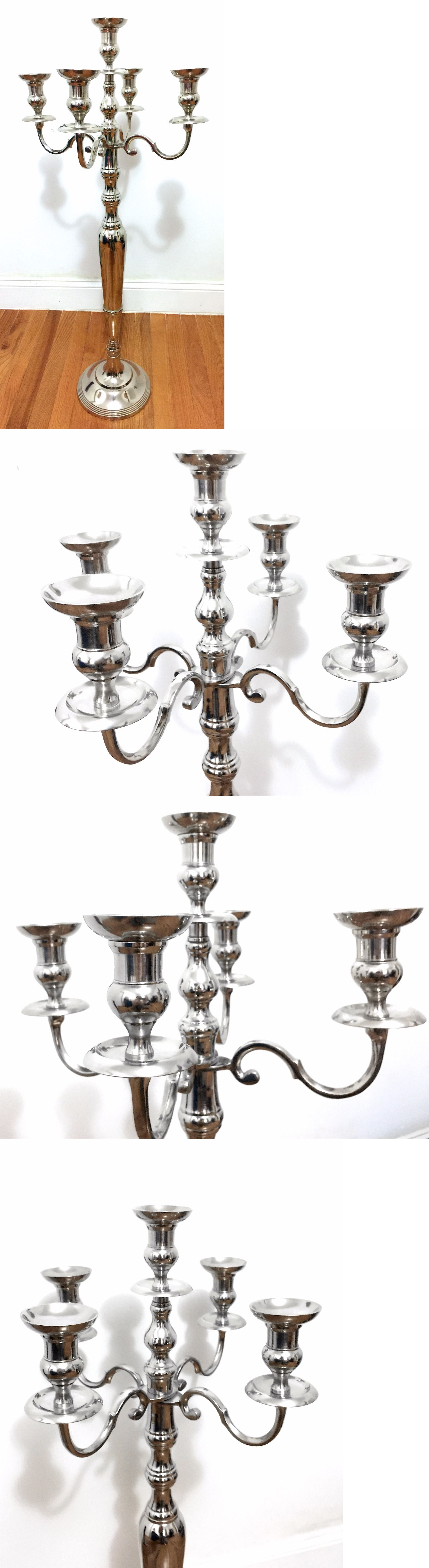 Candle Holders and Accessories 16102: Tall Silver Candelabra Wedding ...