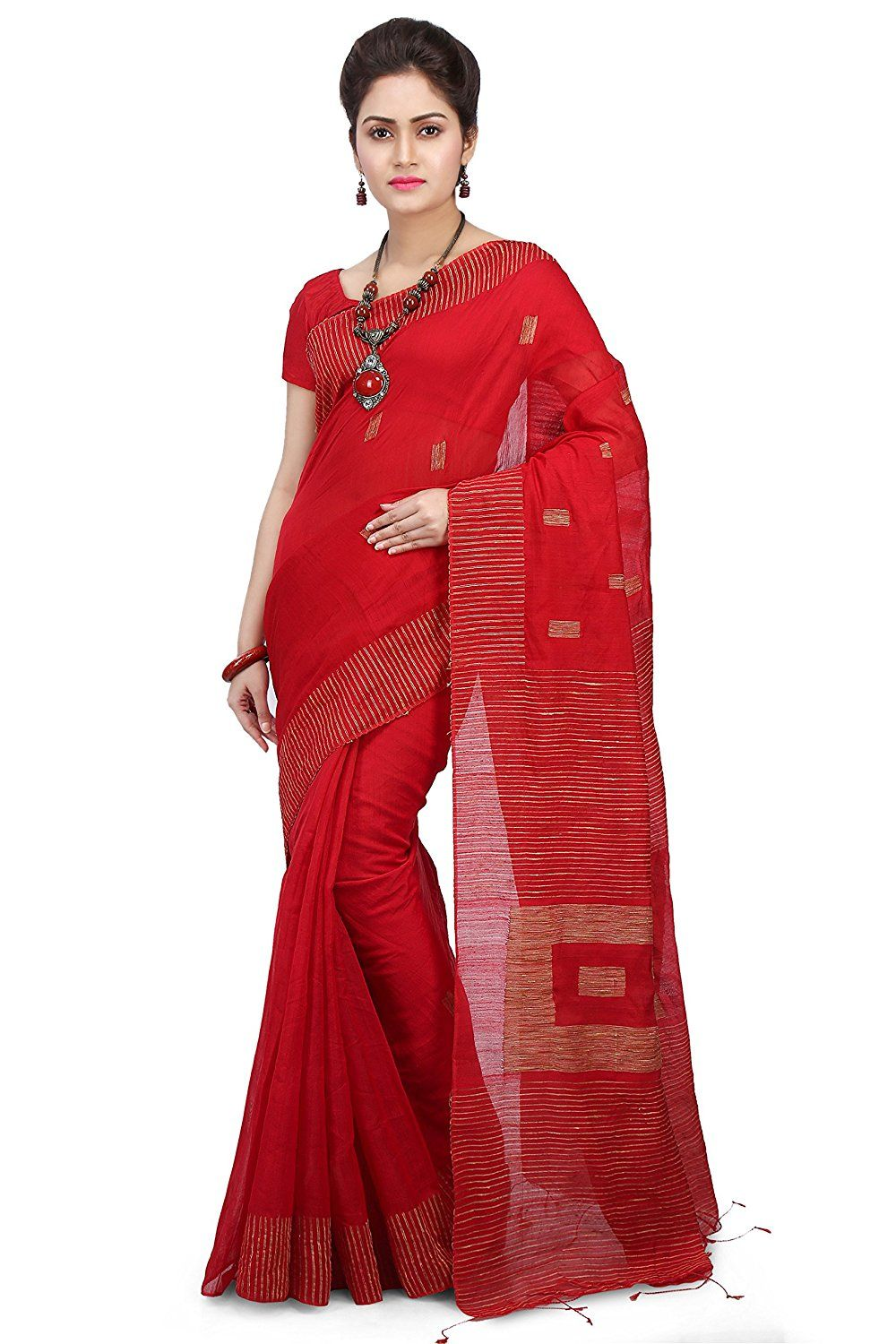 70f986a829cb74 Saree length is 6.5 meter and Width is 1.2 meter. With 0.9 meter blouse  piece