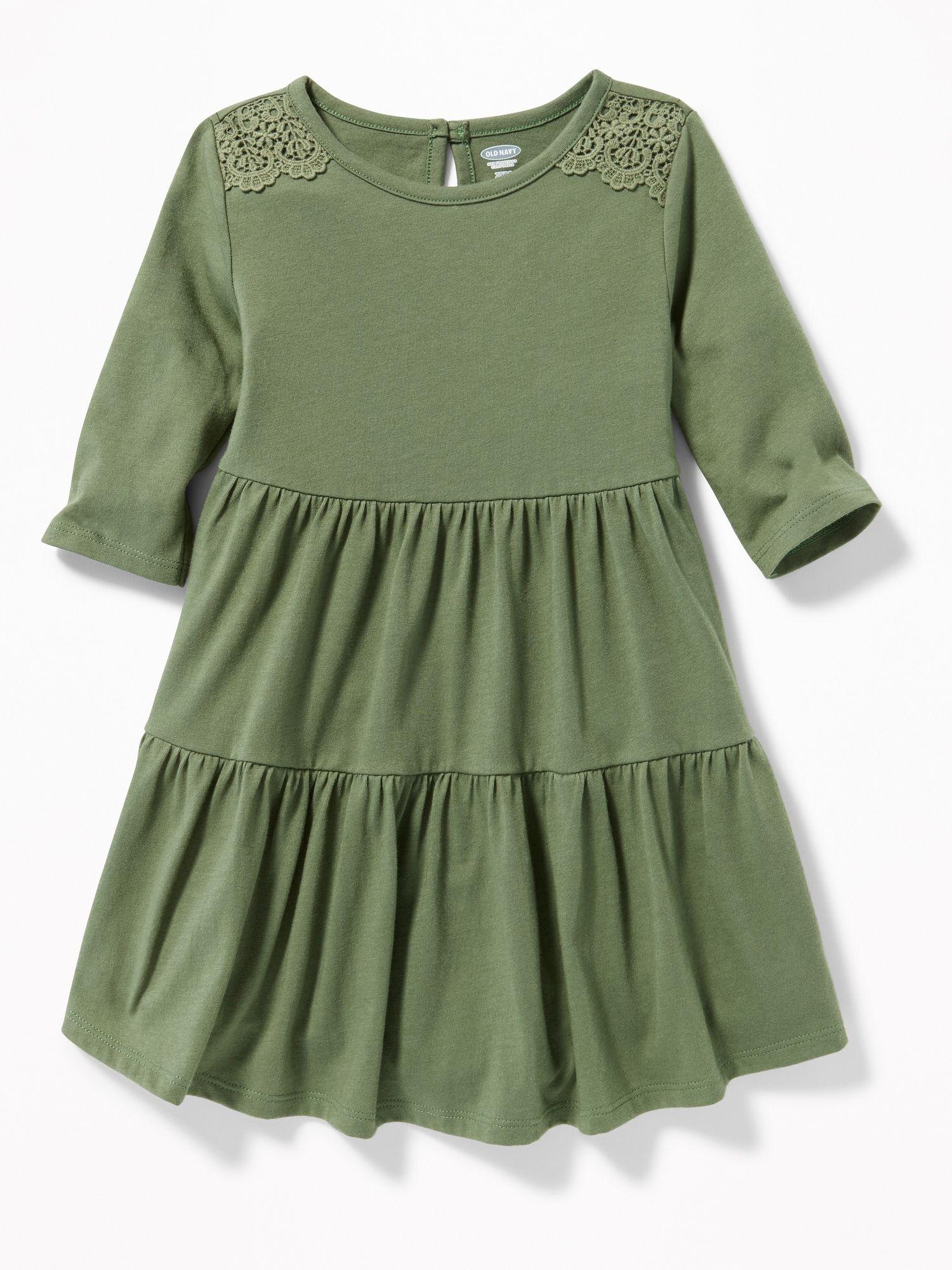 Essentials Girls Long-Sleeve Elastic Waist T-Shirt Dress Bambina