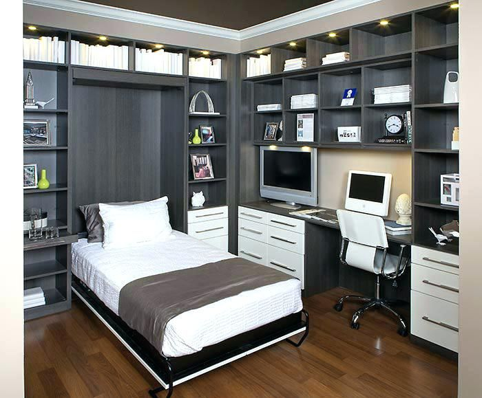 Murphy Bed Desk Combo Home Office With Hidden Wall Bed In Bed