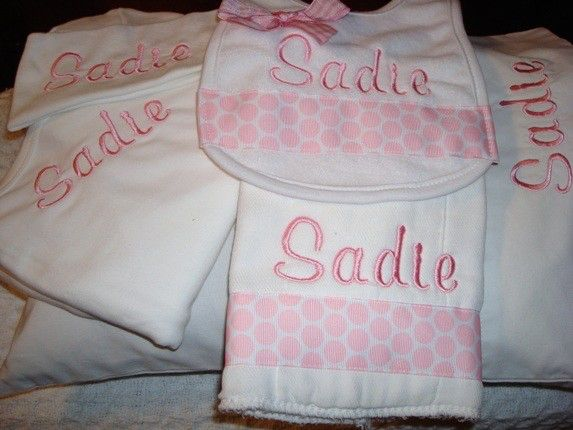 Sadie personalized baby gift set 6 piece gift free shipping sadie personalized baby gift set 6 piece gift free shipping within us by sewcrafts negle Images