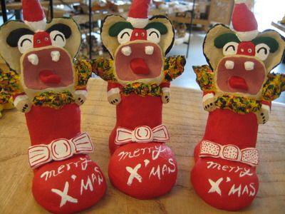 x'mas okinawan shishi dogs