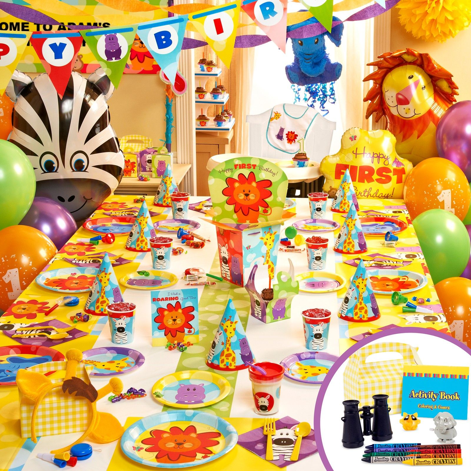 Safari Friends 1st Birthday Party Packs 43978 Childrens Birthday