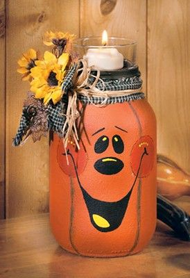 Crafts 'n things : Projects : Details : jack-o-lantern-candle-jar