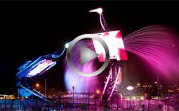 Crane Dance at Resorts World Sentosa - the world's largest animatronic performance