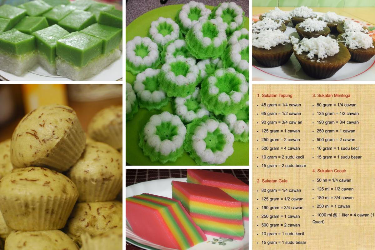 Trending 5 Kuih Tradisional Guna Sukatan Cawan Lebih Senang Dan Sedap Rasa Dessert Tea Food And Drink Traditional Cakes