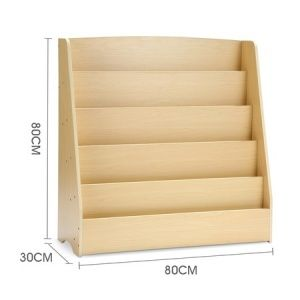 5-Level Kids Wood Bookshelf Bookcase Rack Toy Storage Organizer Display Shelf images