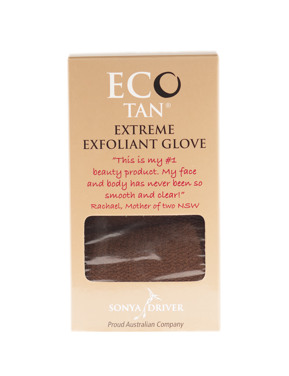Eco Tan® - Extreme Exfoliating Glove is an extreme exfoliator that is brilliant for both pre & post tanning, along with many other uses including Cellulite, Blackhead, and Milia removal. The glove gently removes dead skin layers and old tans to reveal fresh, smooth skin underneath. The glove can be used both as a dry buff, or used with water. For cleaning and care of your glove, simple rinse and hang to dry in the shower.