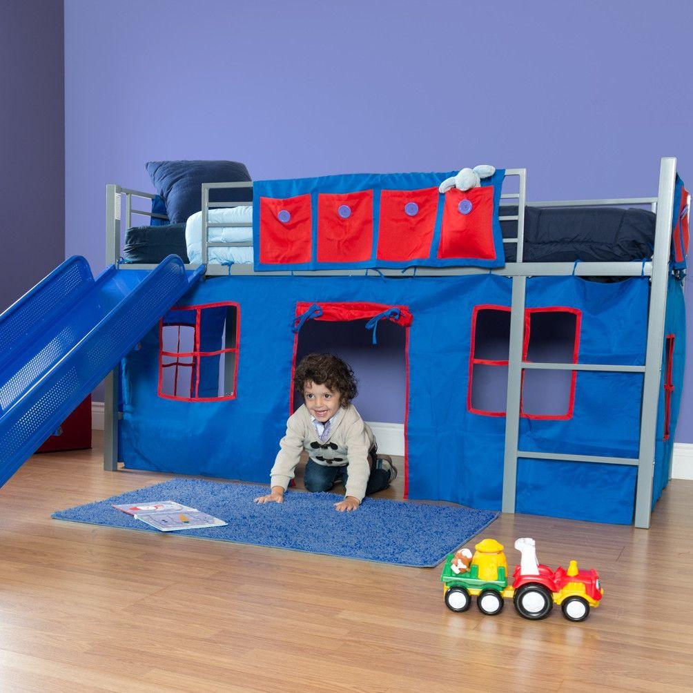 Dhp Curtain Set For Loft Bed Loft Bed Frame Bed With Slide