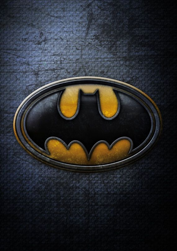 Superhero Logo Poster Batman Created Using Photoshop Printed On