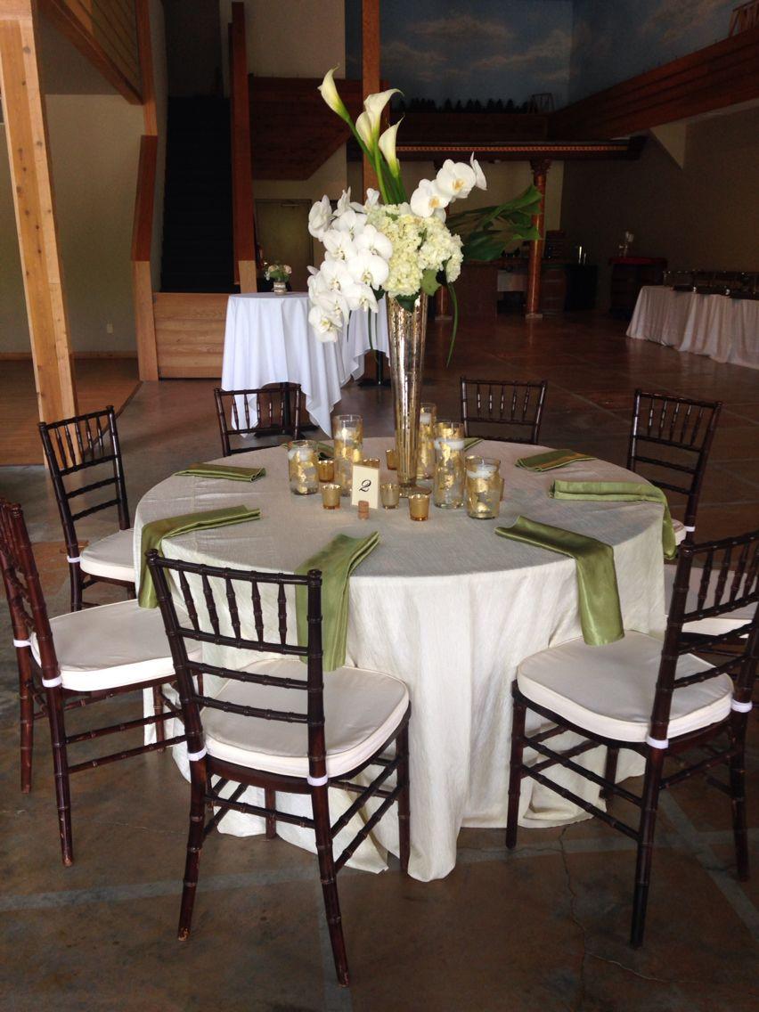 Mahogany chairs dress up this rustic Michigan wedding