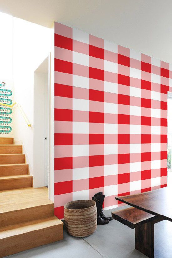 Gingham Self Adhesive Diy Wallpaper Home Decor By Artboardi 75 00 Diy Wallpaper Decor Home Decor