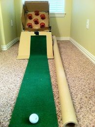 Cardboard Box Mini Golf Activity Daze Pinterest Putt Putt