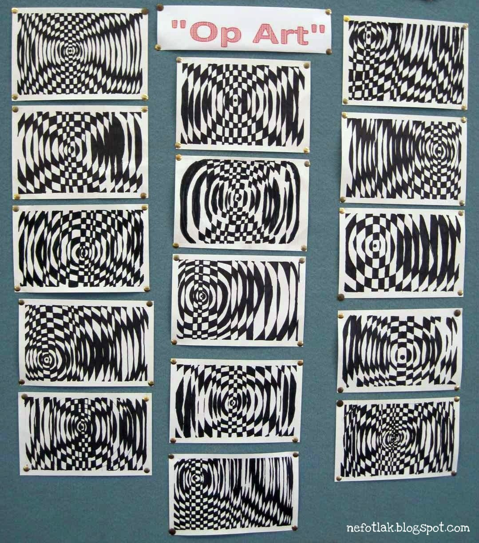 Nefotlak Op Art Lesson 5th Or 6th Grade Super Cool